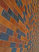 Sztuka czerwonej cegły ścienne, szczegóły architektura. — Zdjęcie stockowe