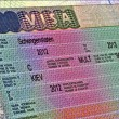 Royalty-Free Stock Photo: Schengen visa for ukrainian citizen, europe travel.