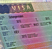 Schengen visa for ukrainian citizen, europe travel. — Stock Photo