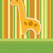 Royalty-Free Stock Vector Image: Giraffe card