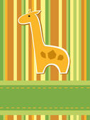 Giraffe card — Stock Vector