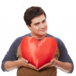 Style man with heart. — Stock Photo