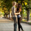 Young couple on the street of the city. — Stock Photo #11185408