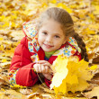 Child in autumn park. — Stock Photo