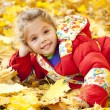 Child in autumn park. — Stock Photo #11233596