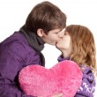Couple kissing. Studio shot. — Stockfoto #11233613