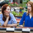Two girls gossiping in cafe — Stock Photo #11266908