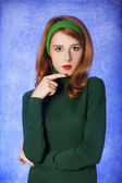 American redhead girl. — Stock Photo