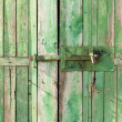 Lock on the door wood — Stock Photo