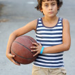 Boy with basketball ball — Stock Photo