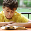 Stock Photo: Boy reading