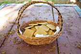 Cookies in a basket — Stock Photo