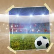Stock Photo: Soccer penalty kick snapshot