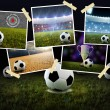 Soccer Collage — Stock Photo
