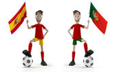 SPAIN VS PORTUGAL — Stock Photo