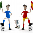 Italy vs Spain — Stock Photo