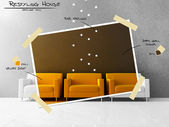 Yellow seat restyling project — Stock Photo