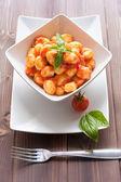 Gnocchi al pomodoro — Stock Photo