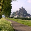 Mont saint-michel ve Francii — Stock fotografie