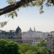 Montmartre view from Buttes Chaumont - Paris — Stock Photo
