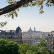 Royalty-Free Stock Photo: Montmartre view from Buttes Chaumont - Paris