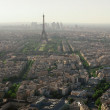 Stock Photo: Eiffel tower in Paris view from Montparnasse building