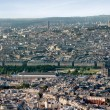 Eiffel tower in Paris view from Montparnasse building — Stock Photo #10944254
