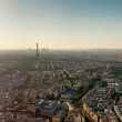Eiffel tower in Paris view from Montparnasse building — Zdjęcie stockowe