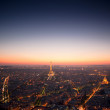 Eiffel tower in Paris view from Montparnasse building — Stock Photo