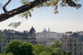Montmartre view from Buttes Chaumont - Paris — Stock Photo