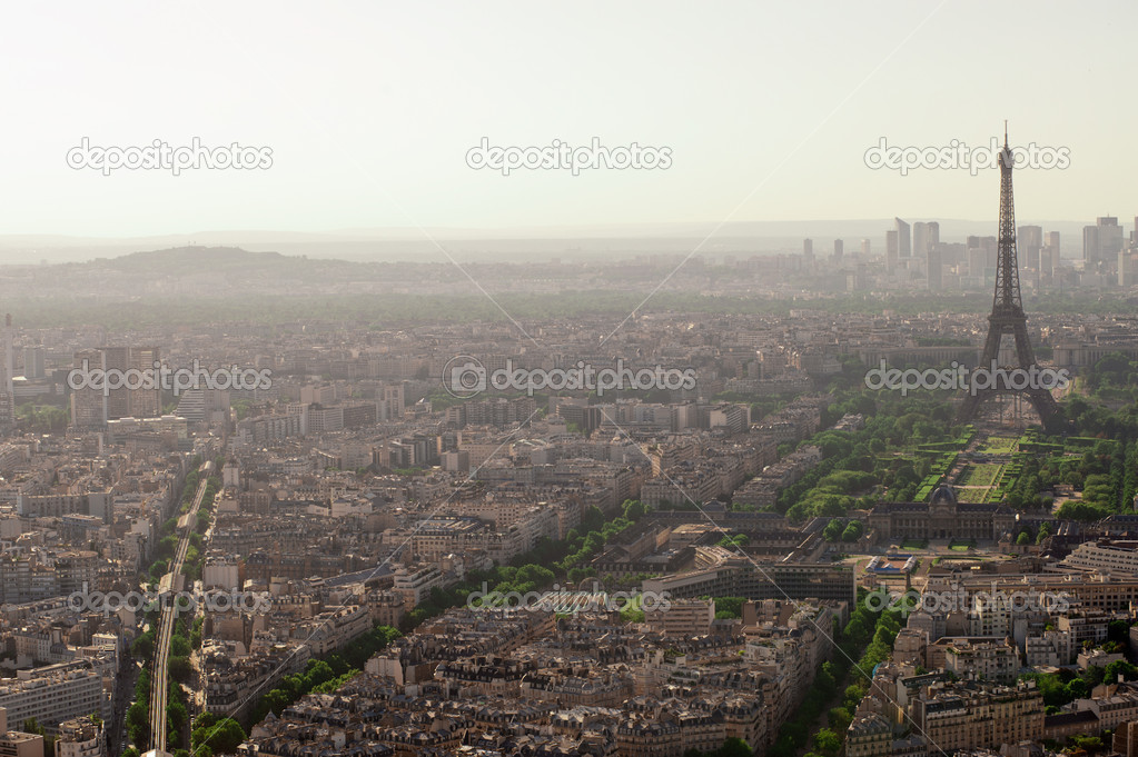 Eiffel tower in Paris view from Montparnasse building — Stock Photo #10944231