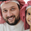 Middle eastern son and his father — Stock Photo #11747411