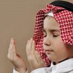 Arabic Kid praying Doa — Stock Photo