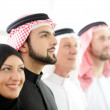 Successful and happy business arabic looking up — Stock Photo
