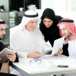 Muslim business at work — Stock Photo #11748325