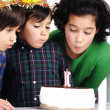 Birthday party cake children — Stock Photo