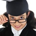 diplomu absolvování studentské dítě — Stock fotografie
