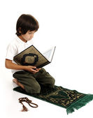 Muslim boy praying — Stock Photo