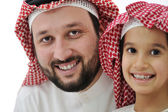 Middle eastern son and his father — Stock Photo