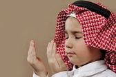 Arap çocuk Doa dua — Stok fotoğraf