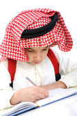 Kid with keffiyeh at the school classroom — Stock Photo