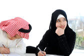Middle eastern school children at classroom — Stock Photo