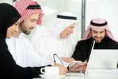 Arabic business at work ,teamwork — Stock Photo