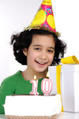 Happy birthday for 10 years old daughter — Stock Photo