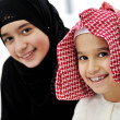 Arabic Muslim brother and sister — Foto Stock