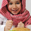 Little boy with hamburger — Stock Photo #11751127