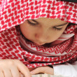Muslim child with Koran — Foto de Stock