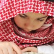 Muslim child with Koran — 图库照片