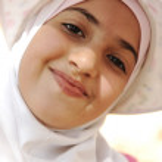 Smiling little girl, Outdoor portrait — Stock Photo