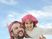 Middle eastern family at home — Stock Photo